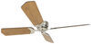 "12V RV Ceiling Fan with Wall Switch - 3 Speed - 42"" Diameter - Brushed Nickel - Black/Oak Brushed Nickel 324-000053"