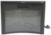 """Greystone 26"""" Reverse Curved Electric Fireplace with Logs - Recessed Mount - Black Logs 324-000070"""
