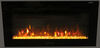 "Greystone 36"" Electric Fireplace with Crystals - Wall Mount - LED Side Lights - Black Crystals 324-000080"