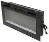 "Greystone 31"" Electric Fireplace with Crystals - Recessed Mount - Black Flat Front 324-000075"