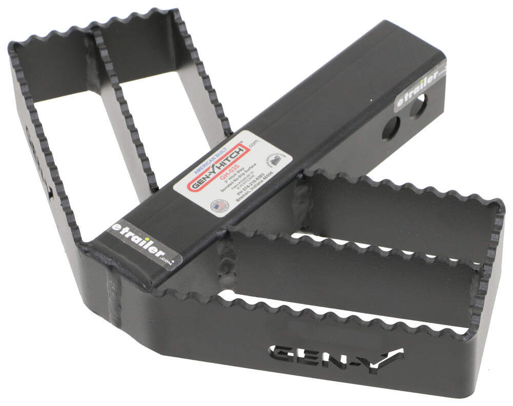 """Gen-Y Serrated Hitch Mounted Step for 2"""" Hitches - 300 lbs 2 Inch Hitch 325-GH-035"""