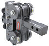 gen-y hitch trailer ball mount adjustable drop - 7-1/2 inch rise torsion 2-ball w/ stacked receivers 2 drop/rise 10 000 lbs