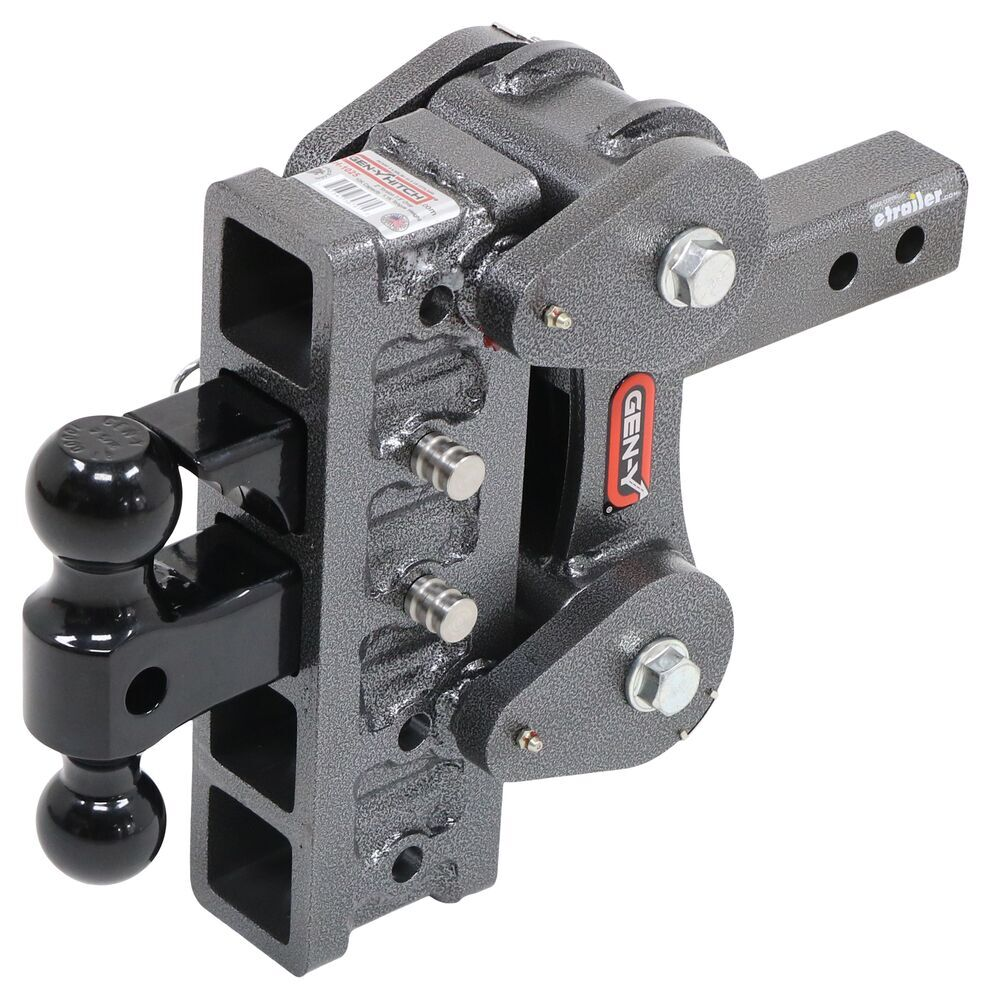 "Gen-Y Torsion 2-Ball Mount w/ Stacked Receivers - 2"" Hitch - 7-1/2"" Drop/Rise - 10,000 lbs Fits 2 Inch Hitch 325-GH-1025"