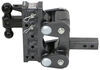 gen-y hitch trailer ball mount adjustable drop - 7-1/2 inch rise 2-1/2 torsion 2-ball w/ stacked receivers 2 drop/rise 16k