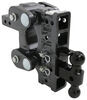 gen-y hitch trailer ball mount adjustable 16000 lbs gtw torsion 2-ball w/ stacked receivers - 2 inch 7-1/2 drop/rise 16k