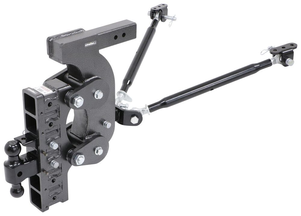 """Gen-Y Torsion 2-Ball Mount w/ Stacked Receivers - 2-1/2"""" Hitch - 21"""" Drop - 21K Stacked Receivers,Shock Absorbing,Built-In Pintle Hook 325-G"""
