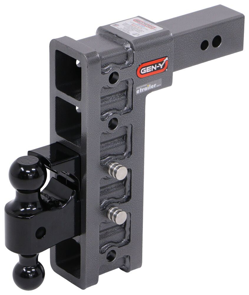 Trailer Hitch Ball Mount 325-GH-1725 - 2 Inch Ball,2-5/16 Inch Ball,Two Balls - Gen-Y Hitch