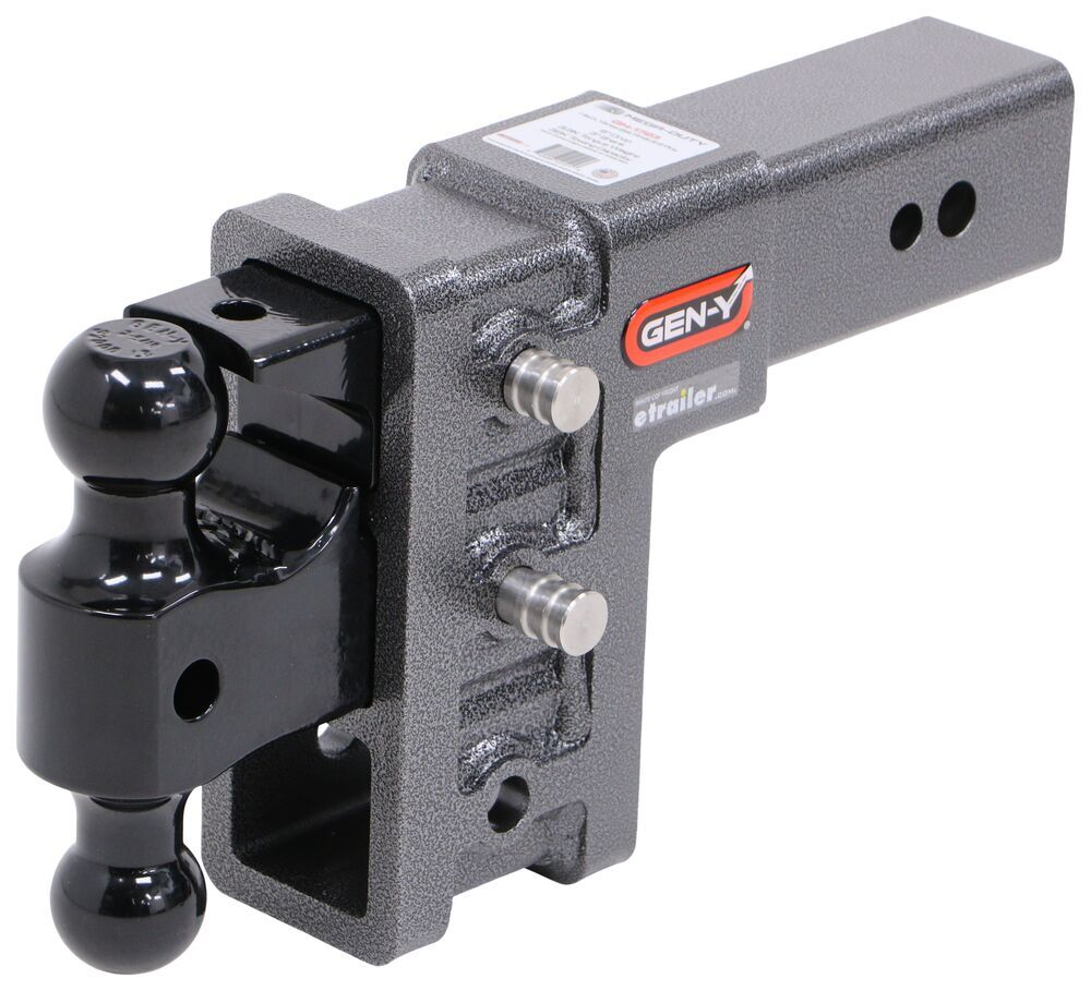 """Gen-Y Adjustable 2-Ball Mount w/ Stacked Receivers for 3"""" Hitch - 6"""" Drop/Rise - 32K Fits 3 Inch Hitch 325-GH-1723"""
