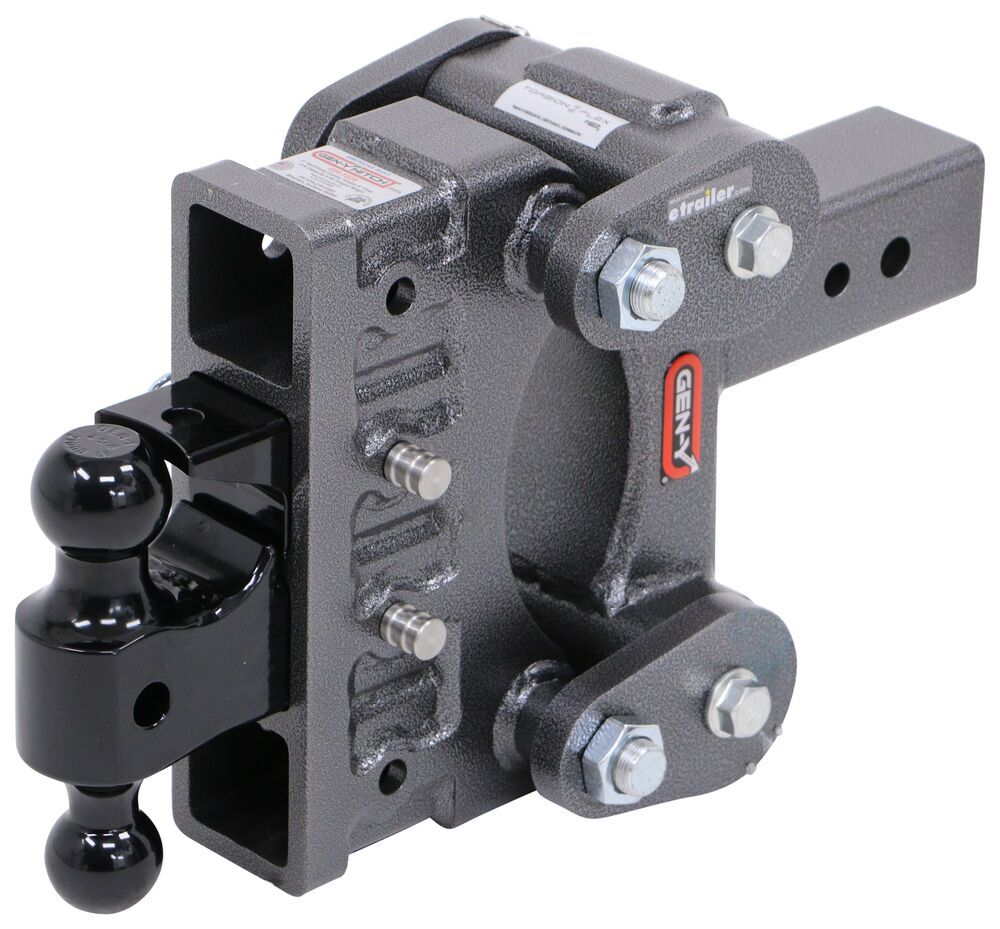 "Gen-Y Torsion 2-Ball Mount w/ Stacked Receivers - 3"" Hitch - 6"" Drop/Rise - 21K 21000 lbs GTW 325-GH-1824"