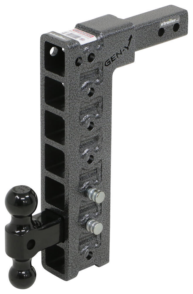 "Gen-Y Adjustable 2-Ball Mount w/ Stacked Receivers - 2"" Hitch - 15"" Drop - 10K Drop - 15 Inch,Rise - 15 Inch 325-GH-317"