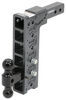 """Gen-Y Adjustable 2-Ball Mount w/ Stacked Receivers - 2"""" Hitch - 12-1/2"""" Drop - 16K Stacked Receivers 325-GH-516"""