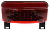 LED Trailer Tail Light with License Bracket - Stop, Turn, Tail, License - Red Lens - Driver Side Red 328-003-81LBM1
