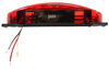 LED Trailer Tail Light with License Bracket - Stop, Turn, Tail, License - Red Lens - Driver Side 8-1/2L x 4W Inch 328-003-81LBM1