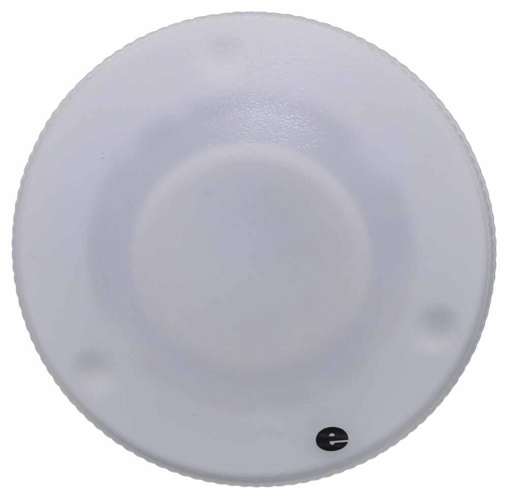 Glantastic LED RV Dome Light - 140 Lumens - Semi-Recessed - Frosted Plastic Lens - Warm White 3 Inch Diameter 328-K-57L34P9