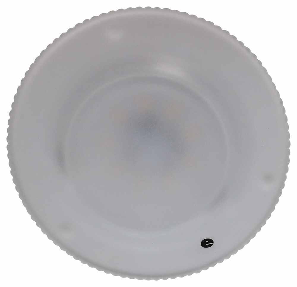Glantastic LED RV Dome Light - 197 Lumens - Semi-Recessed - Frosted Glass Lens - Warm White Recessed Mount 328-K-58L349