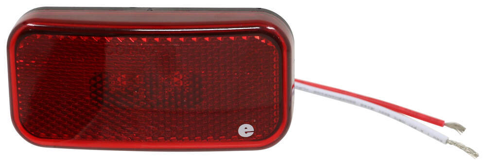 LED Trailer Clearance or Side Marker Light with Reflex Reflector - 2 Diodes - Red Lens 4L x 2W Inch 328-K-59LB
