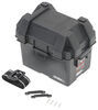Snap-Top Battery Box with Strap for Group U1 Batteries - Vented Black Plastic 329-HM082BKS