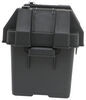 Snap-Top Battery Box with Strap for Group U1 Batteries - Vented 10-5/8L x 8-7/16W x 7-13/16D Inch 329-HM082BKS