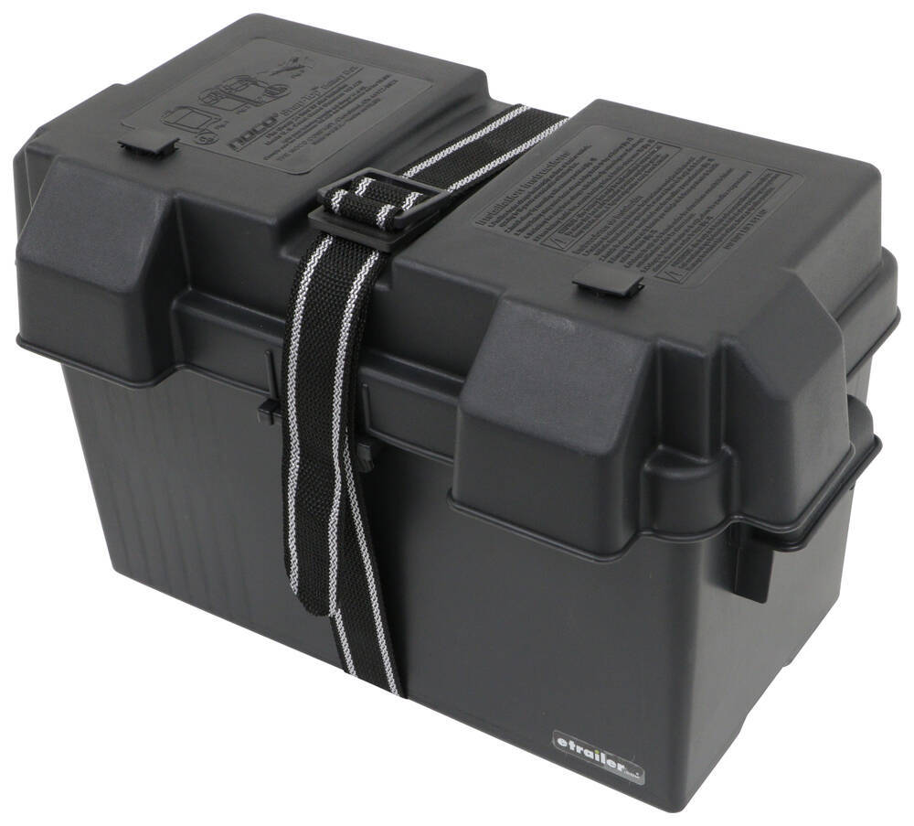 Snap-Top Battery Box with Strap for Group 24 to Group 31 Batteries - Vented 17-3/4L x 10W x 10-5/8D Inch 329-HM318BKS