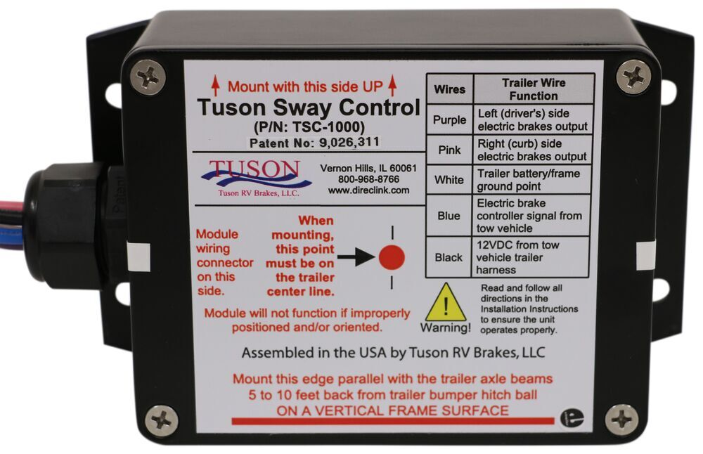 Tuson Electronic Sway Control System For Electric Trailer