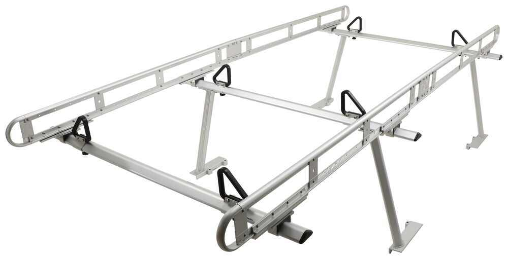 Buyers Products Over-The-Cab Truck Bed Ladder Rack - Aluminum - 800 lbs 4 Bar 3371501400