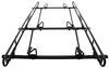 Buyers Products Over-The-Cab Truck Bed Ladder Rack - Black Powder Coated Aluminum - 800 lbs 4 Bar 3371501410