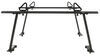 Buyers Products Truck Bed Ladder Rack w/ Load Stops - Black Aluminum - 800 lbs Over the Bed 3371501680