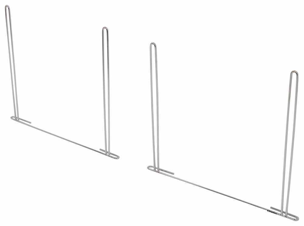 """Buyers Products Anti-Sail Brackets for Mud Flaps - Chrome Plated - 24-1/2"""" Wide Mounting 337B2436ASBC"""