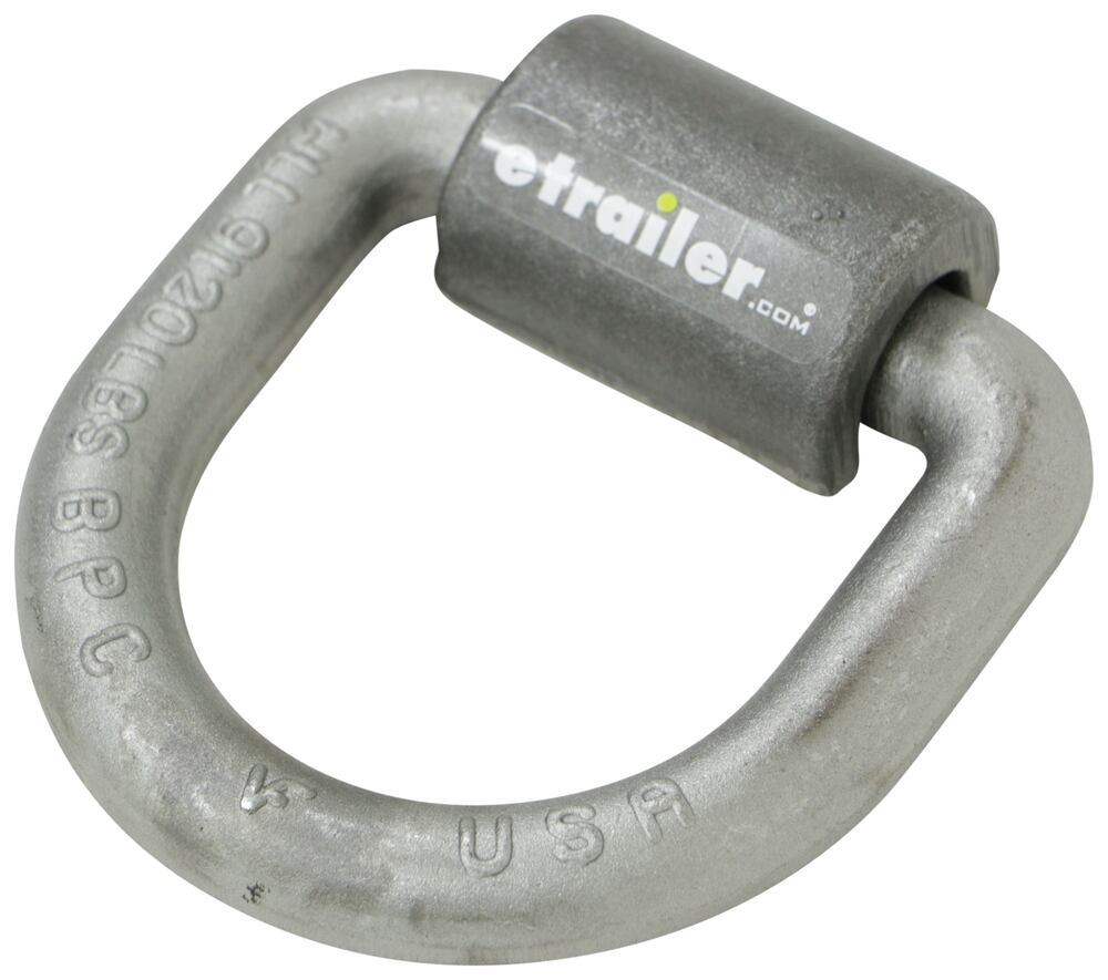 """Buyers Products 3/4"""" Forged D-Ring With Weld-On Mounting Bracket Tie-Down Cleats and Rings 337B46"""