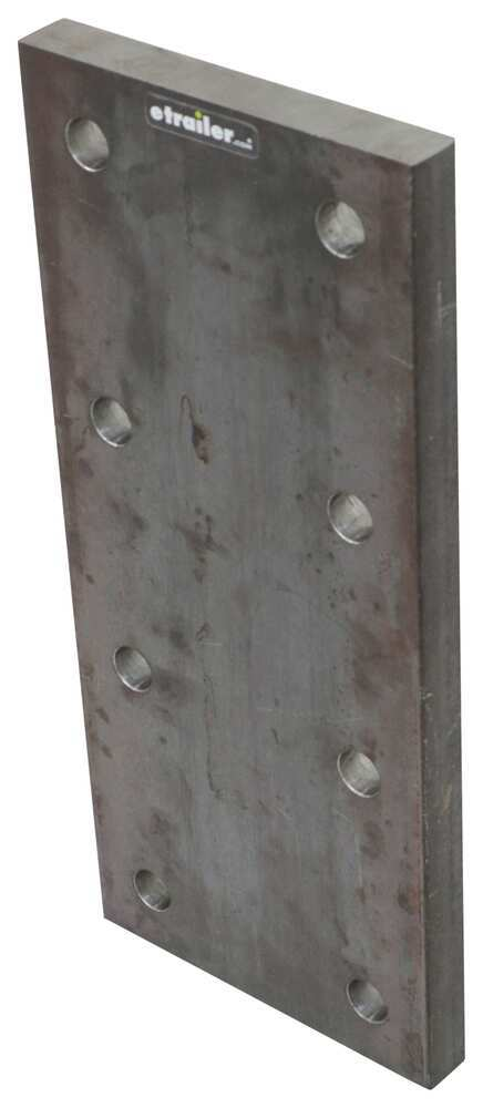 """Buyers Products Mounting Plate for Lunette Ring - 16"""" Long x 7"""" Wide x 1"""" Thick Nose Plate 337TNP716750100"""