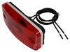 Bargman Trailer Clearance or Side Marker Light w/ Reflector - Incandescent - White Base - Red Lens Incandescent Light 34-17-808
