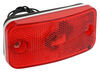 Bargman Trailer Clearance or Side Marker Light w/ Reflector - Incandescent - White Base - Red Lens Rear Clearance,Side Marker 34-17-808