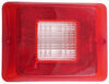 Replacement Lens for Bargman Tail Light - 84, 85, 86 Series - Clear Backup - Horizontal Mount 4-1/4 Inch Wide 34-84-711