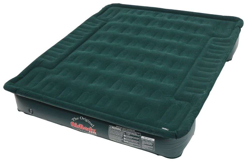 "AirBedz Lite Truck Bed Air Mattress w/ Portable 12V Pump - 76"" Long - Green - 8' Bed 12 Inch Deep 341008"