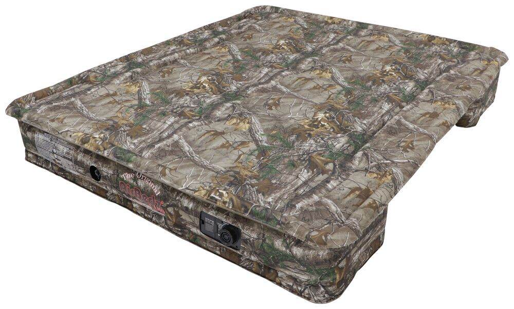 AirBedz Truck Bed Air Mattress w Rechargeable Battery Pump - Camo - 6' to 6-1/2' Bed Covers Wheel Wells 341016
