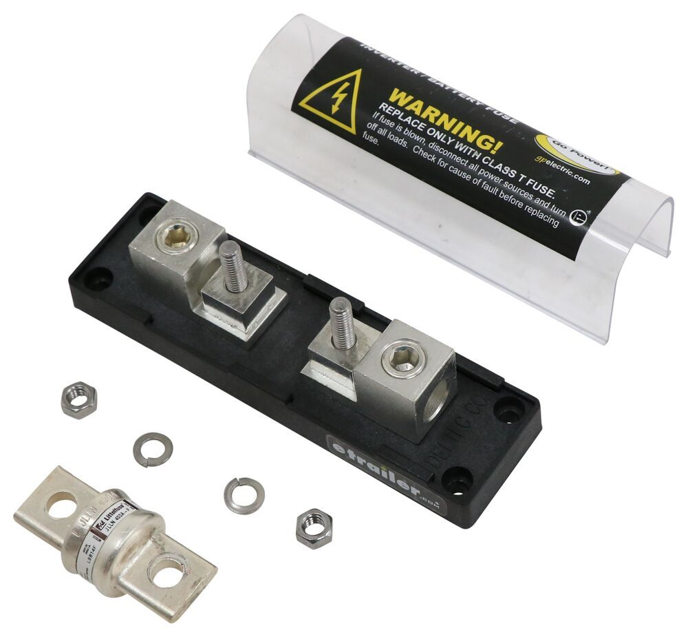 Go Power Inverter Fuse with Block - Class T - 400 Amp Fuse 34243979REVA