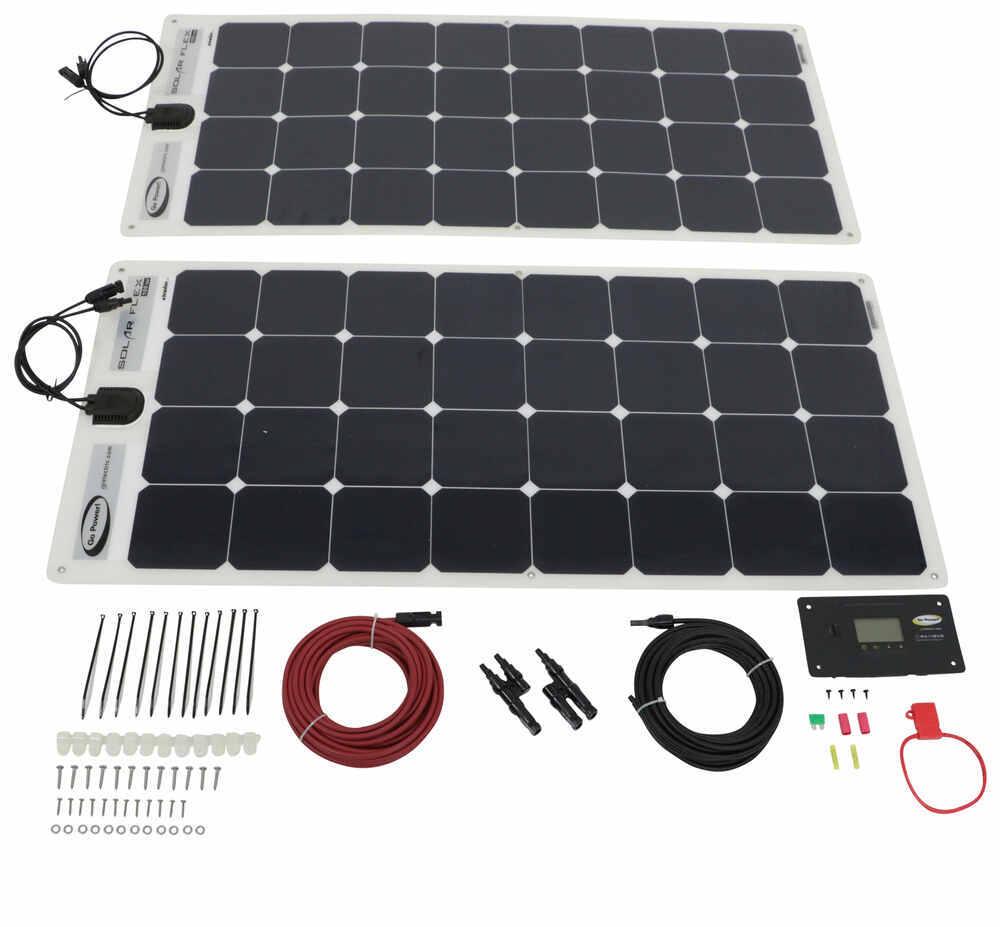 Go Power Solar Flex Charging System with Digital Solar Controller - 200 Watt Solar Panels 2 Panels 34272628