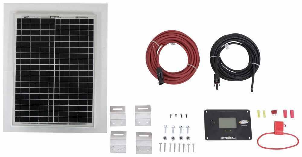 Go Power Eco Solar Charging System with Digital Solar Controller - 20 Watt Solar Panel 20 Watts 34273837