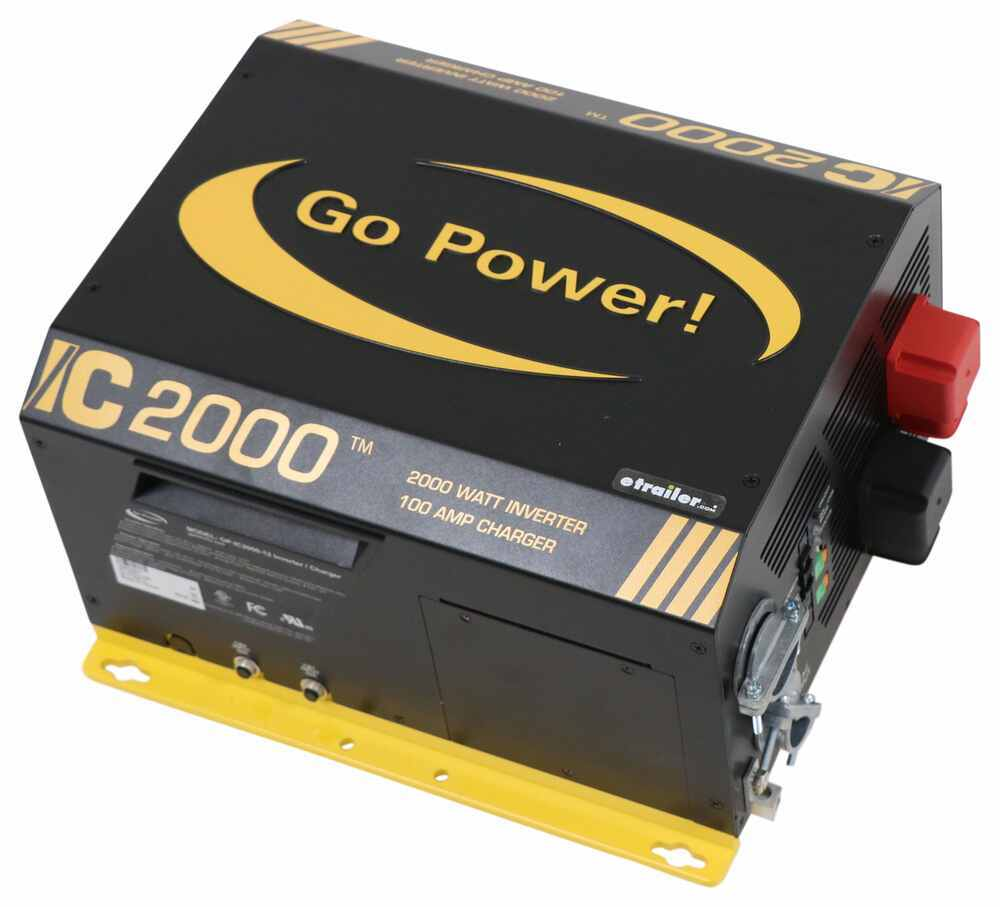 Go Power Industrial Pure Sine Wave Inverter Charger - 2,000 Watts - 100 Amps - 12V 12V 34280055