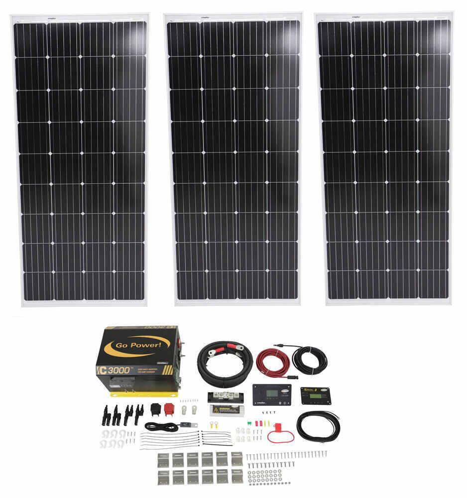 Go Power Roof Mounted Solar Kit w Inverter - 34282185
