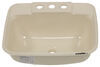 "LaSalle Bristol Single Bowl RV Bathroom Sink - 14-3/4"" Long x 12-1/4"" Wide - Parchment Single Sink 34416186PPA"
