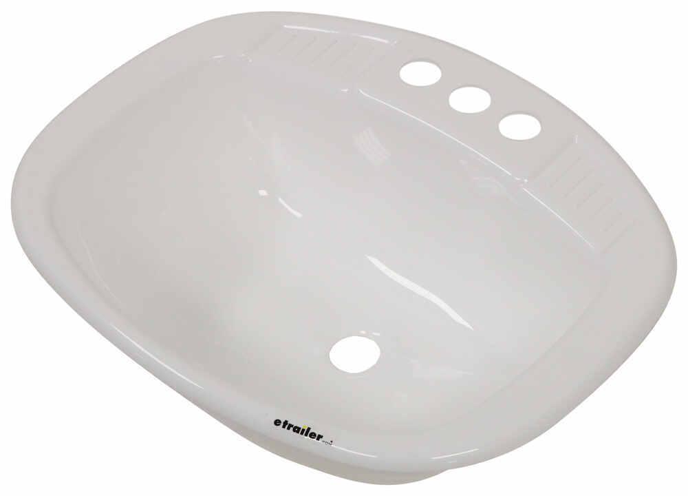 LaSalle Bristol White RV Sinks - 34416270PWA