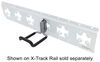 CargoSmart Dual Arm Flat Hook for E-Track and X-Track Systems - Rubber Coated - 200 lbs Hook 3481702