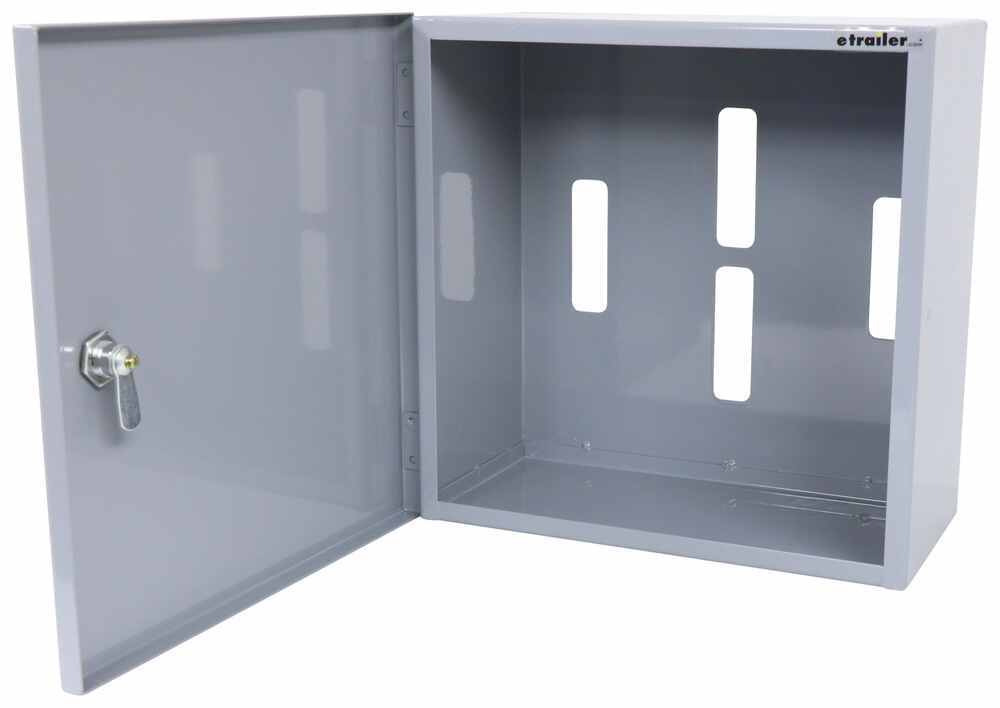 """CargoSmart Locking Cabinet for E-Track or X-Track Systems - 12"""" x 12"""" x 6"""" - 100 lbs Cabinet 3481725"""