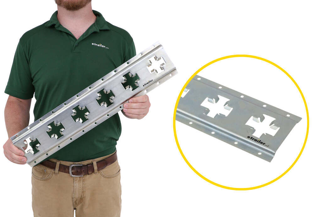 CargoSmart Horizontal or Vertical X-Track - Zinc Plated Steel - 667 lbs - 2' Long 5 Inch Wide 3481769