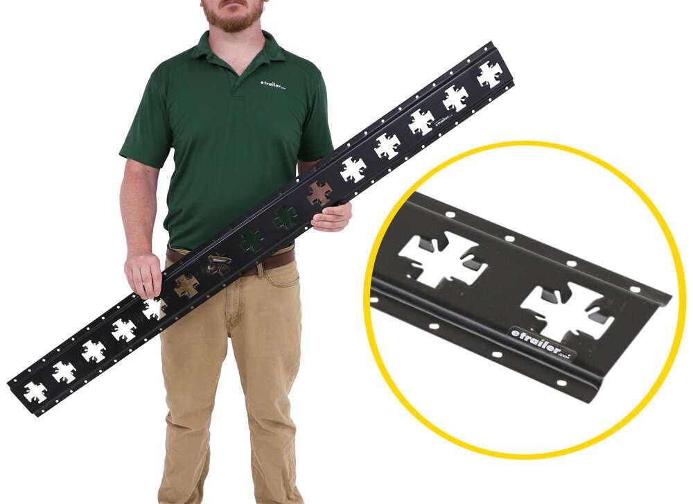 CargoSmart Horizontal or Vertical X-Track - Matte Black - Steel - 667 lbs - 5' Long 5 Inch Wide 3481788