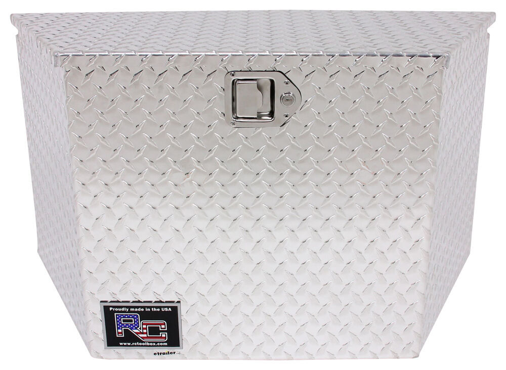 RC Manufacturing T-Series Trailer Tongue Tool Box - A-Frame - Aluminum - 5.2 Cu Ft - Silver 16 Inch Wide 350975