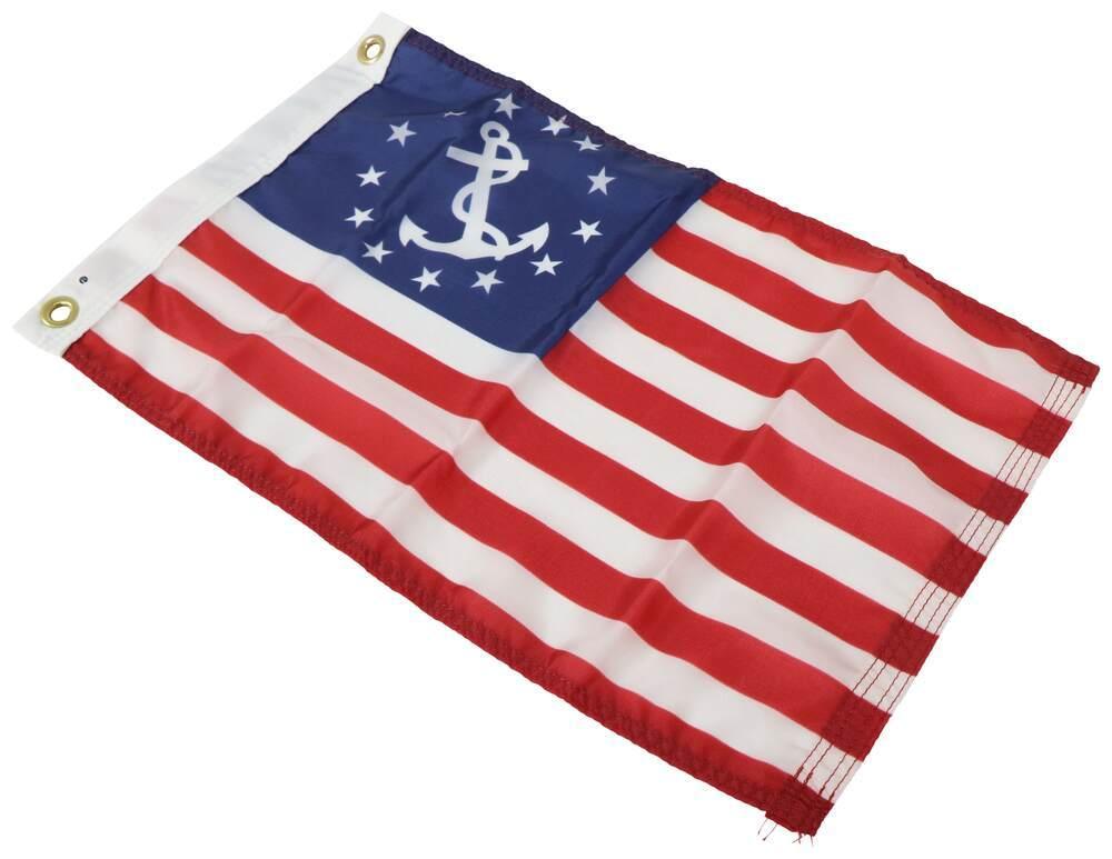 "Taylor Made USA Boat Flag - Yacht Ensign - 12"" Tall x 18"" Long - Nylon 18 Inch Long 3691118"