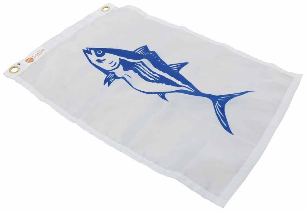 "Taylor Made Fishing Boat Flag - Tuna - 12"" Tall x 18"" Long - Nylon Fish 3693118"