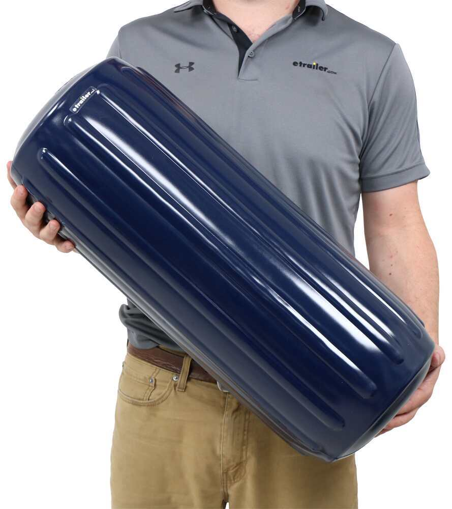 Taylor Made Big B Inflatable Center Tube Boat Fender for 35' to 50' Long Boats - Navy Vinyl Vinyl 369571032